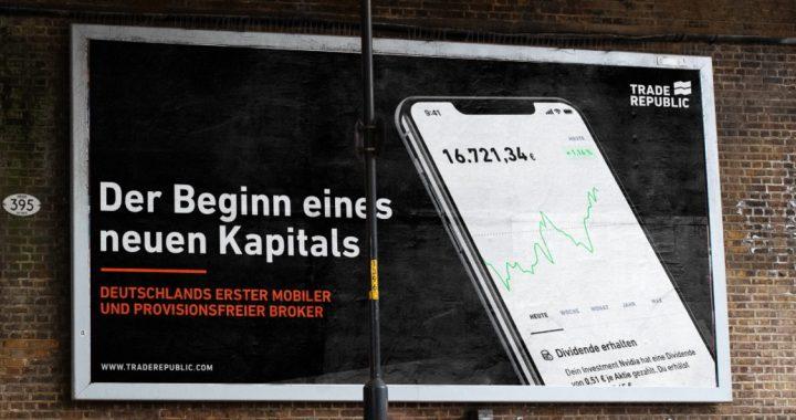 Werbeplakat von Trade Republic